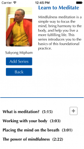 You can add a contemplation series to your session. Each time you play the session, the next teaching in the series will automatically play.